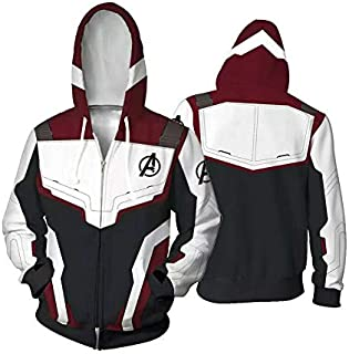 Unisex Avengers Endgame Hoodie Superhero Hoodie Adult Sweatshirt Jacket Sweatpants for Halloween Cosplay Costume