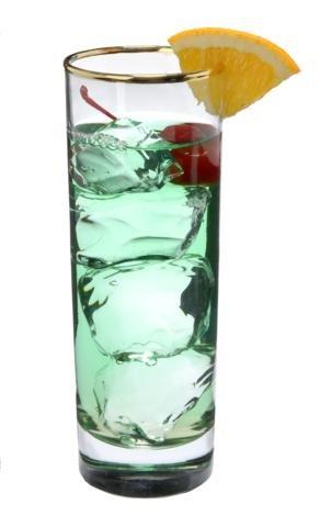 Set di pz Luminarc 'Tube' 283,5gram trasparente bicchieri acqua, succo di frutta, soda, bevande, cocktail bere occhiali con bordo oro (283,5gram)