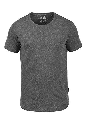 !Solid Thias Camiseta Básica De Manga Corta T-Shirt para Hombre con Cuello Redondo