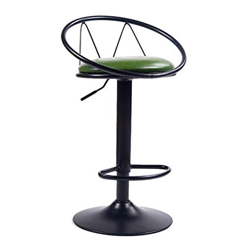Qi Peng- barkruk, inklapbare zitting, hoogwaardig lederen zitkussen, smeedijzeren beugel, zithoogte 62-82 cm barkruk 4#