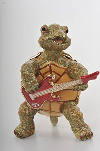 De tortuga jugando al la guitarra de estilo fabergé tarro para dulces...