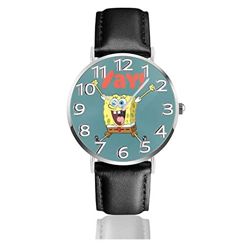 Reloj de Pulsera analógico de Cuarzo Yay Sponge Baby Fun, Reloj de Cuero Lindo de Dibujos Animados Unisex
