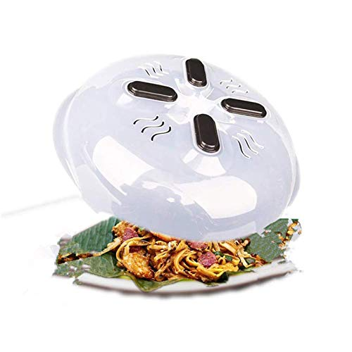 GTEFWZ Electromagnetic Microwave Plate Cover, Microwave Oven Food Cover Can Keep The Microwave Oven Clean, Microwave Oven and Splash Cover 2 Packs
