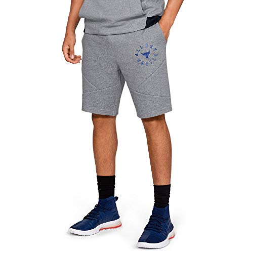 Under Armour X Project Rock Respect Shorts (Steel, 3X-Large)