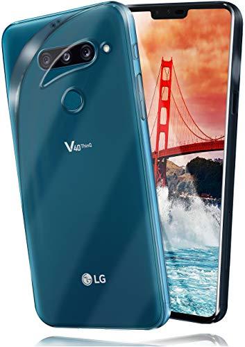 moex Aero Hülle kompatibel mit LG V40 ThinQ - Hülle aus Silikon, komplett transparent, Klarsicht Handy Schutzhülle Ultra dünn, Handyhülle durchsichtig einfarbig, Klar