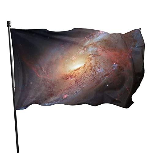 Spiral Galaxy Cosmic Starry Sky Bandera de jardín para interiores y exteriores Bandera de 3 x 5 pies, resistentes a la decoloración Banderas de playa duraderas con encabezado, fácil de usar