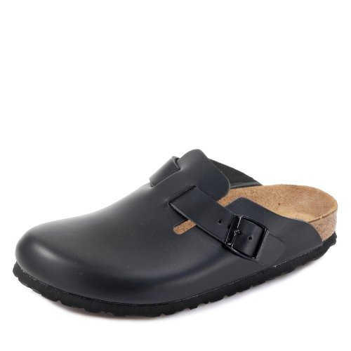 Birkenstock Boston, Sabots mixte adulte, Noir, 36 EU