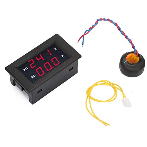Best Review Of wosume LED Digital Display AC 100~300V Voltmeter 0-10A Ampere Meter(Red)