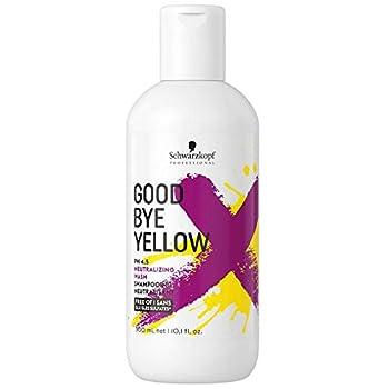Le résultat : des cheveux blonds brillants et éclatants ! GOODBYE YELLOW est le premier shampooing déjaunissant à forte concentration de pigments de Schwarzkopf Professional. Il lave délicatement les cheveux grâce à sa formulation sans SLS/SLES sulfa...