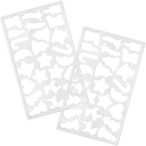 com-four® 2x Plätzchen Ausstechschablone - Multiausstecher für 50 Weihnachts-Plätzchen - Ausstechform aus Kunststoff (02 Stück - Set9)
