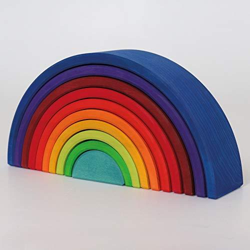 Grimm\'s Spiel und Holz Design GRIMMs Regenbogen Zahlenland, 10-teilig
