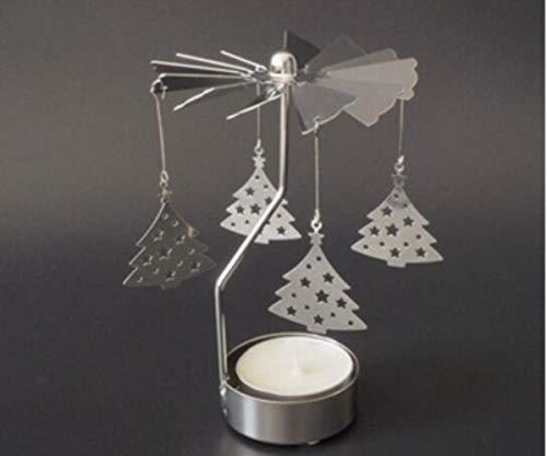 Go-Round Candelabros Spinning Carrousel Tea Light Candle Holder Árbol de Navidad Iluminación...