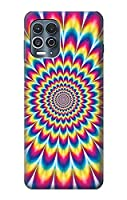 JP3162MES カラフルなサイケデリック Colorful Psychedelic For Motorola Edge S 用ケース