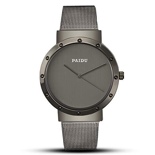 DAZHE Relojes Militares Relojes de Pulsera de cuar Red de Moda con Reloj de aleación PAIDU para Hombre. (Color : 1)