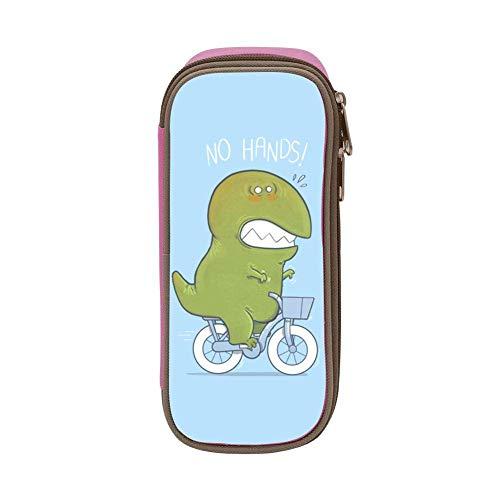 AOOEDM Federmäppchen Tyrannosaurus Rex Bike Pen Bag Organizer Briefpapier mit großer Kapazität