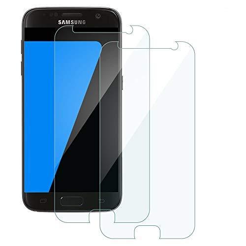Carantee [2 Stück Panzerglas Schutzfolie für Samsung Galaxy S7, 9H Härte, Anti-Kratzen, Ultra-klar, Blasenfrei Panzerglas für Samsung S7