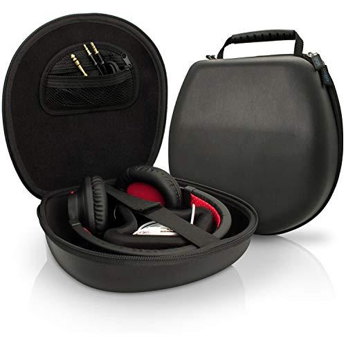 iGadgitz U3804 Schwarz Eva Trage Hart Tasche Schutzhülle Kompatibel mit Kopfhörer Headset