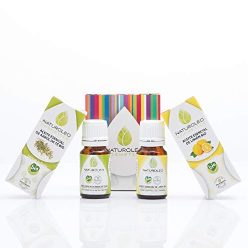 Naturoleo Cosmetics - Aceite Esencial de Árbol de Té BIO + Aceite Esencial de Limón BIO...