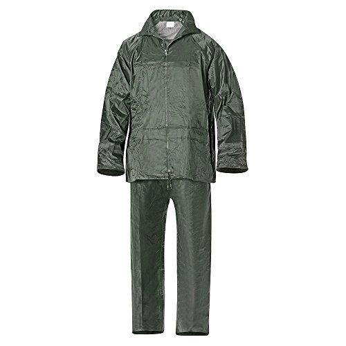 WOLFPACK LINEA PROFESIONAL 15010027 Traje de Agua Impermeable Verde Nylon Talla 8-XL