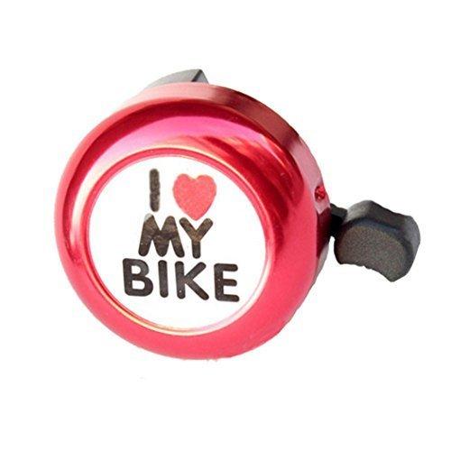Li-an-ca Leayao, Campanello per Bicicletta in Lega di Alluminio, Suono Forte e Chiaro, Adatto per Bambini e Adulti Rose Red