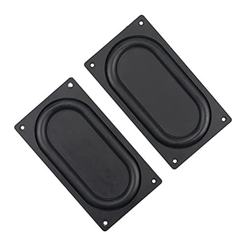Wnuanjun 2pcs 135 * 75mm Bass Diafragma Radiador de Baja frecuencia de Caucho de Baja frecuencia 3.5 Pulgadas 4 Pulgadas Película de vibración pasiva