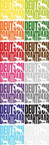 Aufkleber Schriftzug Deutsch Drahthaar