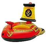 cypressen Anillo Flotador para bebé, Flotador para niños, Flotador Hinchable, Barco Pirata, PVC, Juguete de Agua para Verano