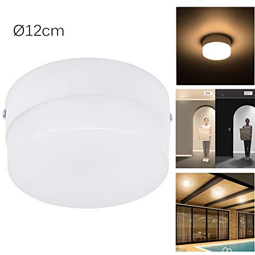 ALLOMN bewegingsmelder licht, bewegingsmelder plafondlamp, Radar LED plafondinbouwlamp voor binnen, multimodi, auto aan/uit, hoge helderheid (3000K/6000K)