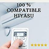 Mando Aire Acondicionado HIYASU - Mando a Distancia Compatible 100% con Aire Acondicionado HIYASU Entrega en 24-48 Horas. HIYASU MANDO COMPATIBLE
