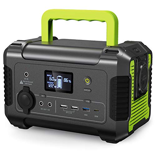 PAXCESS Portable Power Station 200, 230Wh Solar Generator,Emergency Backup Lithium Battery, 110V/ 200W (300W Peak) AC Outlet Backup Battery Power Supply, 12V DC Power Station for Outdoor Camping