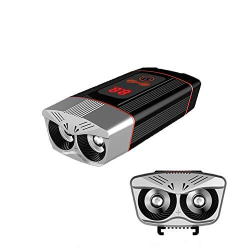 MUXIN LED Fahrradlicht Set,2400 Lumen Fahrradbeleuchtung USB Wiederaufladbare wasserdichte IP64 Beleuchtung Mit Powerbank-Funktion,Fahrradbeleuchtung 4 Modi Für Mountainbike, Elektrofahrrad, E-Bike