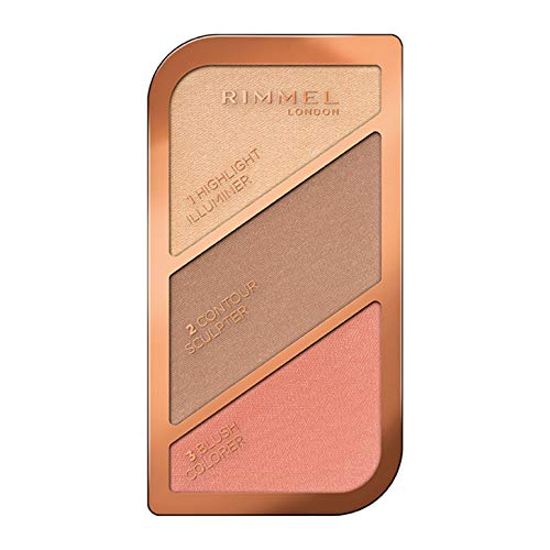 Rimmel London Sculpting Pakette Paleta de Maquillaje en polvo, Not So Shy, 18.5 g, Tono Goden Bronze