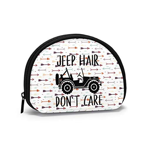 Je-Ep Hair Don't Care Women Portable Coin Purse Zippered Change Pouch Wallet Shell Storage Bags