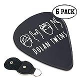 Dolan Twins ギターピック 6枚/セット ウクレレ エレキギター 3種厚さ プリントデザイン 大人気 スペシャル バリ無し 尖らず