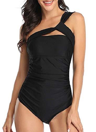 CORAFRITZ Traje de baño de una pieza para mujer, elegante, monokinis, control de abdomen, traje de baño de corte alto