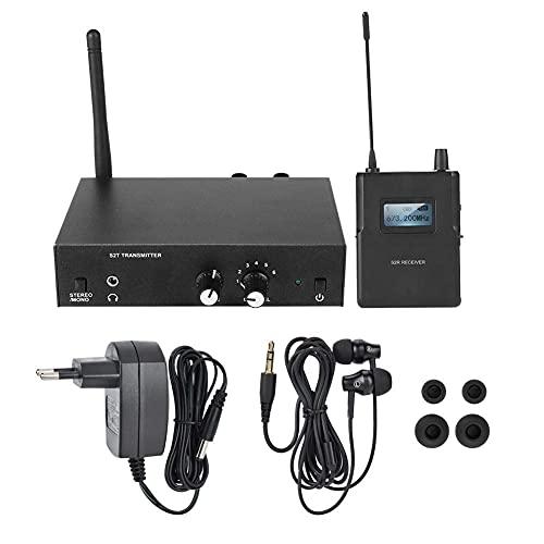 Sharainn In Ear Monitor, sistema de monitorización estéreo inalámbrico, sistema profesional para monitorización in situ (enchufe europeo)