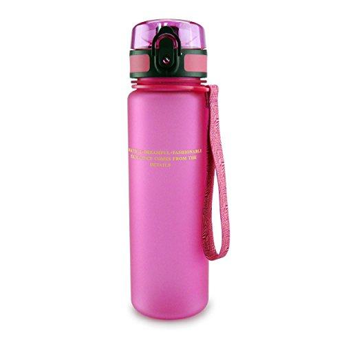SMARDY Tritan Wasserflasche Trinkflasche pink - 1000ml - aus BPA-freiem Kunststoff - einfach zu öffnen - umweltfreundlich