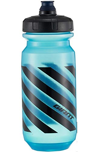 Giant Trinkflasche für Fahrrad, Sport, Radfahren, Hellblau, Schwarz, 600 cc, Fassungsvermögen: 600 ml, transparent