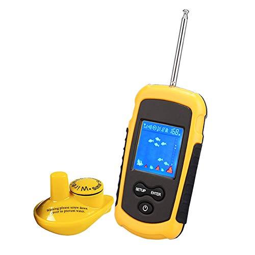 Inalámbrico buscador de los pescados, visible de alta definición Detector de los pescados Pesca Sonar Fish Hunter Fish alarma 125 kHz a 90 grados, Sonda 40M Profundidad Sonar Pesca,wireless