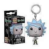 Llavero Anime Rick Y Morty Figura De Acción Pop Rick Modelo Colección Niños Regalos Juguetes En Caja...