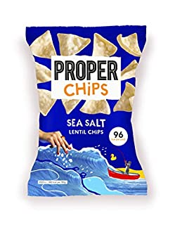 PROPERCHIPS - Sea Salt Lentil Chips - 24 x 20g Packs (B081TF14HR) | Amazon price tracker / tracking, Amazon price history charts, Amazon price watches, Amazon price drop alerts