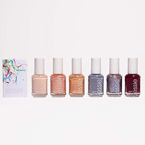 essie Celebration Love Moments Collection, 6 Piece Nail Polish Gift Set with Cards