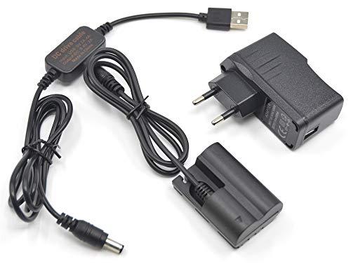 ACK-E2 Cable de Carga USB de Energía Móvil + DR-400 BG-E2 E2N BP-511 Adaptador de Batería Falsa + USB para Canon EOS 20D 30D 40D 5D 50D D30 D60