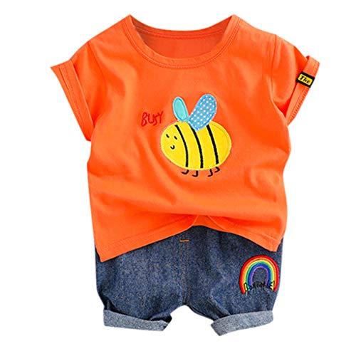 TWIFER Col Rond - été_Cartoon Bee Tops T-Shirt Pantalon Court Tenues Décontractées Set Tout-Petit Bébé Enfants Garçons_1 2 3 4 5 6 7 9 Ans Les magasins Ont