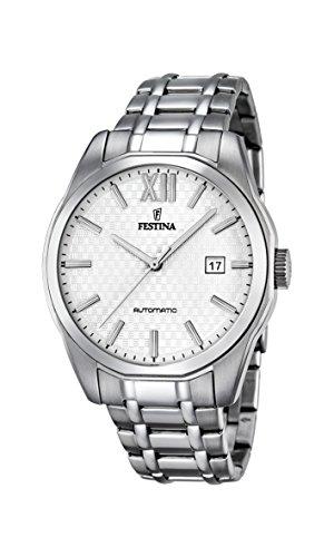 Festina Herren Analog Automatik Uhr mit Edelstahl Armband F16884/2