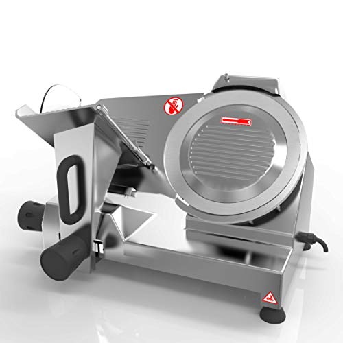 KUPPET 8' inch Stainless Steel Electric Meat Slicer Premium Chromium-plated Carbon Steel Blade, Home Kitchen Deli Meat Food Vegetable Cheese Cutter, Commercial Coffee Shop/restaurant and Home Use 240W Low Noises