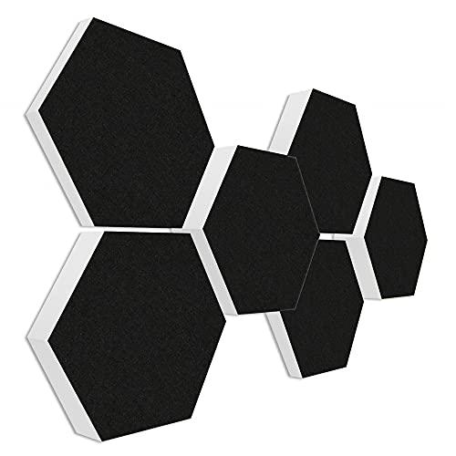 Basotect G+ Schallabsorber 3D-Set  6 Elemente Ø30cm - Diverse Farben (Schwarz)