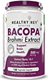 HealthyHey Nutrition Brahmi - Bacopa Monnieri- 500 mg - Support Memory and Brain