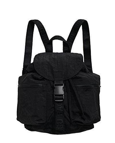 Baggu Kleiner Sportrucksack, Leichter Rucksack für den täglichen Gebrauch, Schwarz