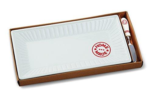 Mud Pie Homemade Platter Set, White